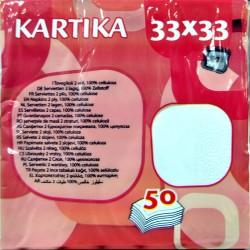 Kartika Tovaglioli 33x33 2 veli pz.50