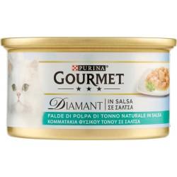 PURINA GOURMET Diamant Gatto Falde di Polpa di Tonno Naturale in Salsa lattina 85gr.