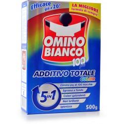 Omino Bianco 100 più Additivo Totale Color 5in1 500 gr.
