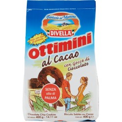 Divella biscotti ottimini al cacao gr.400