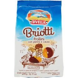 Divella biscotti briotti cacao panna gr.400