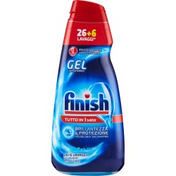 Finish All in 1 Max Power Gel Brillantezza & Protezione 26+6 Lavaggi* ml.650