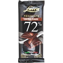 Laica tavoletta cioccolato fondente extra dark 72% gr.100