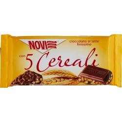 Novi Con 5 cereali Cioccolato al latte finissimo gr.80