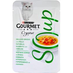 PURINA GOURMET CRYSTAL SOUP Gatto Delicato Brodo con Pollo Naturale,Verdure Busta 40 gr.