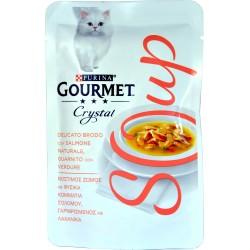 PURINA GOURMET CRYSTAL SOUP Gatto Delicato Brodo con Salmone Naturale,Verdure Busta 40 gr.