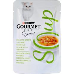 PURINA GOURMET CRYSTAL SOUP Gatto Delicato Brodo con Tonno Naturale, Verdure Busta 40 gr.
