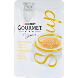 PURINA GOURMET CRYSTAL SOUP Gatto Delicato Brodo con Pollo Naturale Busta 40 gr.