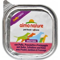 almo nature Daily Adult Dog con Pollo, Prosciutto e Formaggio 100 g