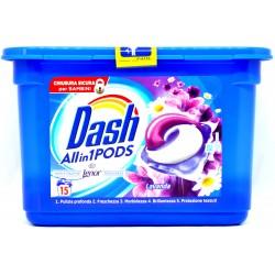 Dash PODS All in 1 Detersivo Lavatrice in Monodosi Lavanda 15 Lavaggi