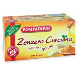 Pompadour Infuso Zenzero Curcuma 20 x 1,8 gr.