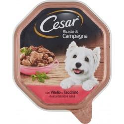 Cesar Ricette di Campagna con Vitello e Tacchino in una deliziosa salsa 150 gr.