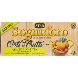 Sogni d'oro Orti & Frutti Arancia, Carota e Ananas 20 x gr.2,5