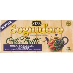 Sogni d'oro Orti & Frutti Mora, Rabarbaro e Zenzero 20 x gr.2,5