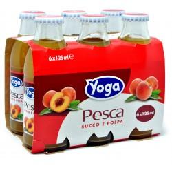 Yoga Pesca Succo e Polpa 6 x 125 ml. vap