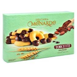 Monardo biscotti torcetti con cacao gr.130