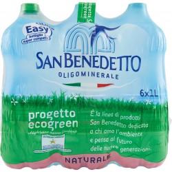 San Benedetto acqua naturale lt.1 x 6 easy