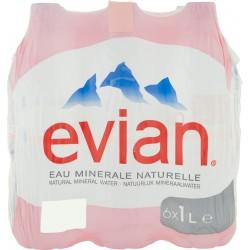 Evian acqua naturale lt.1 x 6
