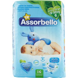 Assorbello Dryfit Up extra large 15-30 kg (taglia 6) 14 pz