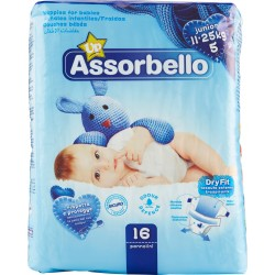 Assorbello Dryfit Up junior 11-25 kg (taglia 5) 16 pz