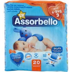 Assorbello Dryfit Up midi 4-9 kg (taglia 3) 20 pz.