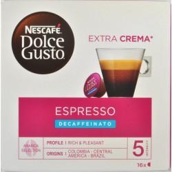 NESCAFÉ DOLCE GUSTO ESPRESSO DECAFFEINATO caffè espresso decaffeinato 16 capsule (16 tazze)