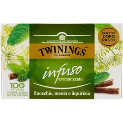 Twinings Infuso Aromatizzato Finocchio, Menta e Liquirizia 20 x 2 g