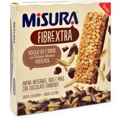 Misura Barretta Fibrextra Avena Integrale, Riso e Mais con Cioccolato Fondente 3 x 27 gr.