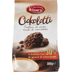 Witor's Ciokolotti frollini al cacao ricchi di cioccolato gr.300