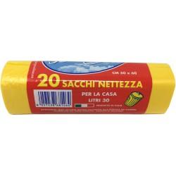 Soft Soft sacchi pattumiera giallo cm.50x60 pz.20