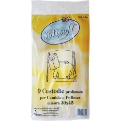 Soft Soft custodie profumate per camice e pullover cm.30x45 9 pz