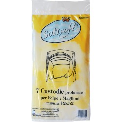 Soft Soft custodie profumate per felpe e maglioni cm.42x52 7 pz