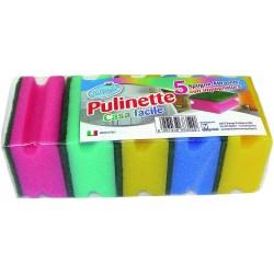 Soft Soft pulinet 5 spugne abrasive con impugnatura