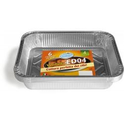 Soft Soft vaschetta alluminio 4 porzioni pz.6