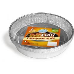 Soft Soft vaschetta alluminio torta 6 porzioni pz.6