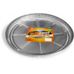 Soft Soft vaschette alluminio pizza gigante pz.3