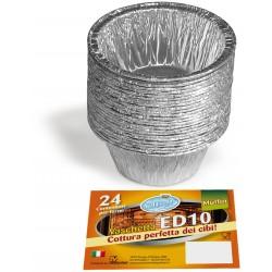 Soft Soft vaschette alluminio per budino pz.24