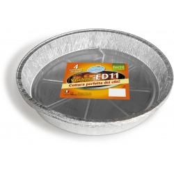 Soft Soft vaschette alluminio rotonde per torta grande pz.4