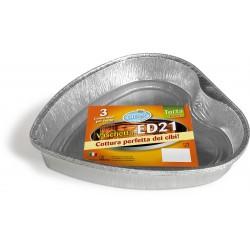 Soft Soft vaschetta in alluminio a cuore per torte pezzi 3
