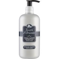 Tesori d'Oriente Crema sapone aromatica muschio bianco 300 ml.