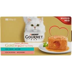 Gourmet gold cuore morbido tonno e salmone gr.85x4