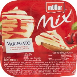 müller Mix Variegato Yogurt alla Vaniglia e Topping all'Amarena 150 gr.
