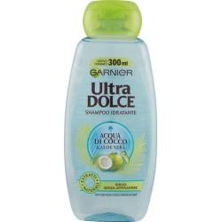 Garnier Ultra Dolce Shampoo Acqua di Cocco & Aloe Vera per capelli ruvidi e disidratati 300 ml.