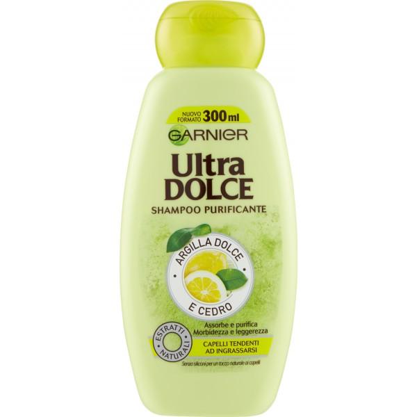 sale retailer aa224 0e40e Garnier Ultra Dolce Shampoo purificante Argilla Dolce e Cedro per capelli  grassi 300 ml.