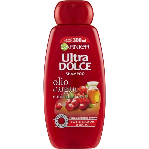 Garnier Ultra Dolce Shampoo Allolio Di Argan E Mirtillo Rosso Per Capelli Colorati 300 Ml