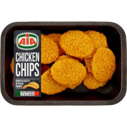 Aia Chicken Chips Chips di Filetti di Pollo Panate gr.230
