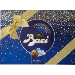 BACI PERUGINA CLASSICO Cioccolatini ripieni al gianduia e nocciola intera scatola Natale 200 gr.