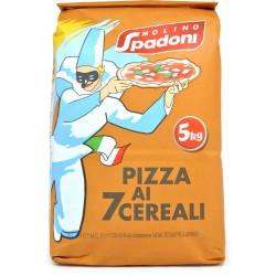 Spadoni farina pizza nera 7 cereali kg.5