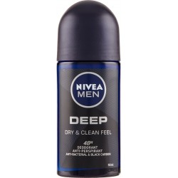 Nivea Men Deep Roll-On Deodorant Anti-Perspirant 50 ml
