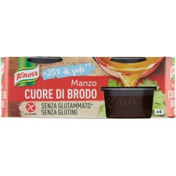 Knorr Cuore di Brodo Manzo -25% di sale senza glutine 4 x 28 gr.